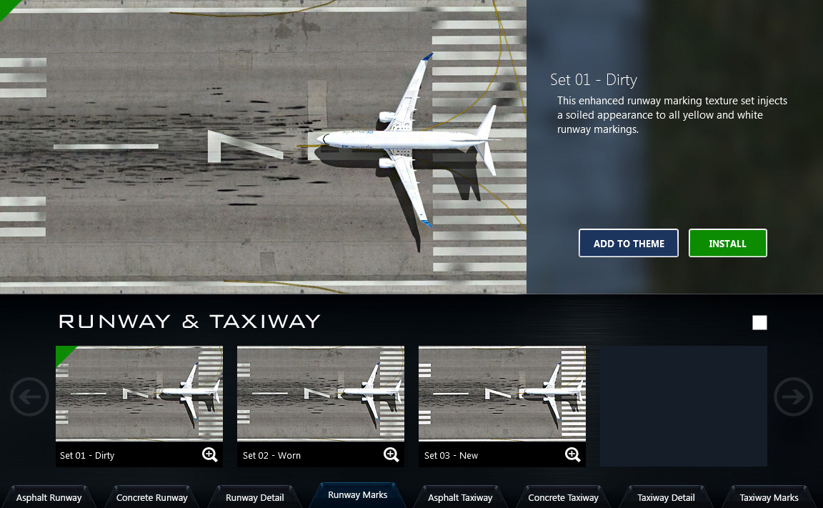 Runway and taxiway textures for FSX and Prepar3D