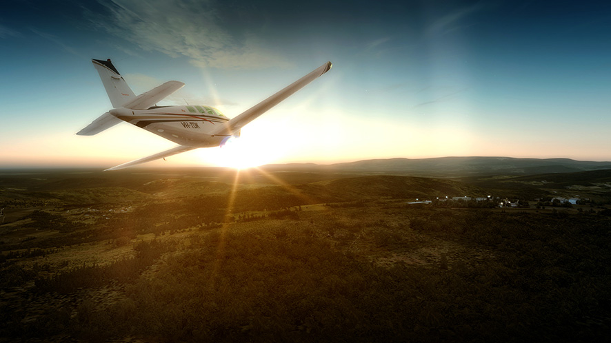Sun, lens flare effects and sky textures in FSX